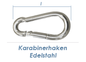 60 x 6mm Karabinerhaken Edelstahl A4 (1 Stk.)