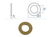 8,4mm Unterlegscheiben DIN125 Messing (10 Stk.)
