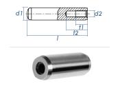 8 x 60mm Zylinderstift mit Innengewinde DIN 7979 - Tol....