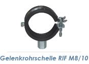 """20-23mm (1/2"""") Gelenkrohrschellen M8/M10  (1 Stk.)"""