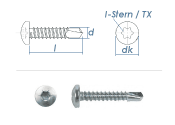 3,5 x 22mm Bohrschrauben Linsenkopf TX DIN7504 Stahl...