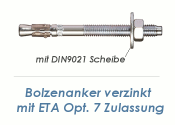 M12 x 280mm Bolzenanker verzinkt - ETA Opt. 7  (1 Stk.)