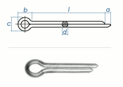 2 x 32mm Splint DIN94 Edelstahl A2  (10 Stk.)