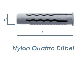 14 x 70mm Nylon Quattro Dübel (1 Stk.)