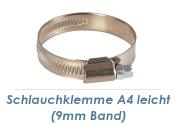 50-70mm / 9mm Band Schlauchklemmen Edelstahl A4 (1 Stk.)