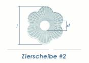 17mm Zierscheibe #2 verzinkt  (1 Stk.)