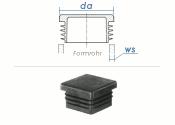 50 x 50mm / WS:1-3mm Lamellenstopfen quadratisch PE...