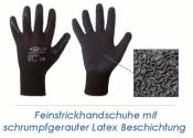 Feinstrickhandschuhe Latex schwarz Gr. 9 (L) (1 Stk.)
