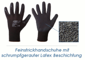Feinstrickhandschuhe Latex schwarz Gr. 10 (XL) (1 Stk.)