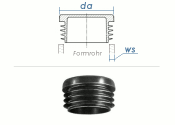 25mm / WS:1-3mm Lamellenstopfen rund PE schwarz (10 Stk.)