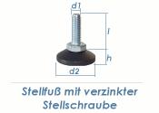 M8 x 30mm Stellfuß mit drehbarem Fuß (1 Stk.)