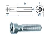 M8 x 80mm Zylinderschraube DIN6912 Stahl verzinkt FKL 8.8...