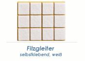 20 x 20mm Filzgleiter weiss selbstklebend  (1 Karte zu 50 Stk.)