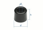 25 x 24mm Türpuffer PVC (1 Stk.)