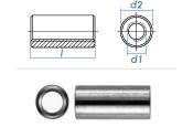 M8 x 25mm Gewindemuffe rund Edelstahl A2 (1 Stk.)