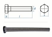 M5 x 8mm Sechskantschrauben DIN933 Vollgewinde Edelstahl...