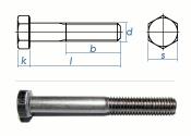 M8 x 95mm Sechskantschrauben DIN931 Teilgewinde Edelstahl...