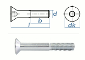 M12 x 25mm Senkschrauben DIN7991 Stahl verzinkt FKL 8.8...