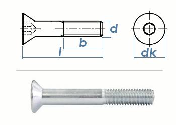 M12 x 90mm Senkschrauben DIN7991 Stahl verzinkt FKL 8.8 (1 Stk.)