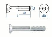 M16 x 90mm Senkschrauben DIN7991 Stahl verzinkt FKL 8.8...