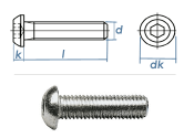 M5 x 20mm Linsenflachkopfschraube ISK ISO7380 Stahl...
