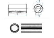 M6 x 30mm Gewindemuffe rund Stahl verzinkt (10 Stk.)