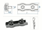 6mm Duplex Seilklemmen Edelstahl A4 (1 Stk.)