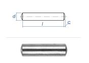 6 x 12mm Zylinderstift Stahl blank gem. DIN7 / ISO2338...