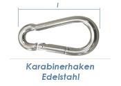 30 x 3mm Karabinerhaken Edelstahl A4 (1 Stk.)