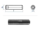 M5 x 10mm Gewindestift Kegelkuppe DIN913 Edelstahl A2...