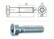 M6 x 30mm Zylinderschraube DIN7984 Stahl verzinkt FKL 8.8...