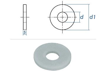13mm Unterlegscheiben großer Außendurchmesser DIN9021 Polyamid  (10 Stk.)