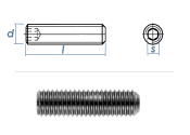 M6 x 35mm Gewindestift Kegelkuppe DIN913 Edelstahl A2 (10...