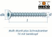 7,5 x 80mm MMS-plus Schraubanker TX mit Senkkopf (1 Stk.)