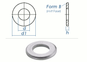 5,3mm Unterlegscheiben DIN125 Form B Edelstahl A2 (10 Stk.)