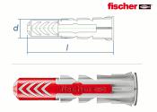 6 x 30mm Fischer DUOPOWER Dübel (10 Stk.)