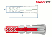 10 x 50mm Fischer DUOPOWER Dübel (10 Stk.)