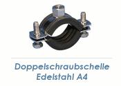 """25-31mm (3/4"""") Schraubrohrschellen M8/M10 Edelstahl A4 (1 Stk.)"""